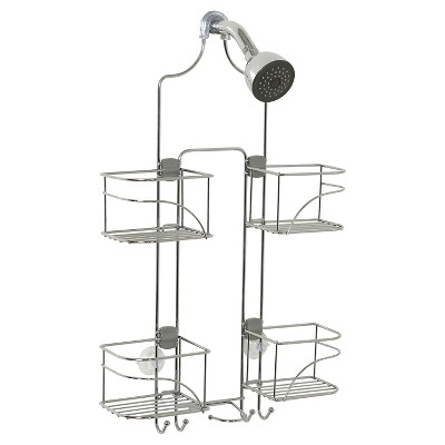 Zenna Home Expandable Rust-Resistant Shower Head Caddy - Chrome
