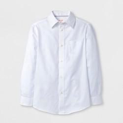 Boys' Long Sleeve Button-Down Shirt - Cat & Jack™ White
