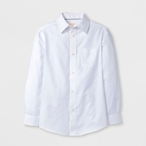 Boys' Long Sleeve Button-Down Shirt - Cat & Jack™ White - image 1 of 1