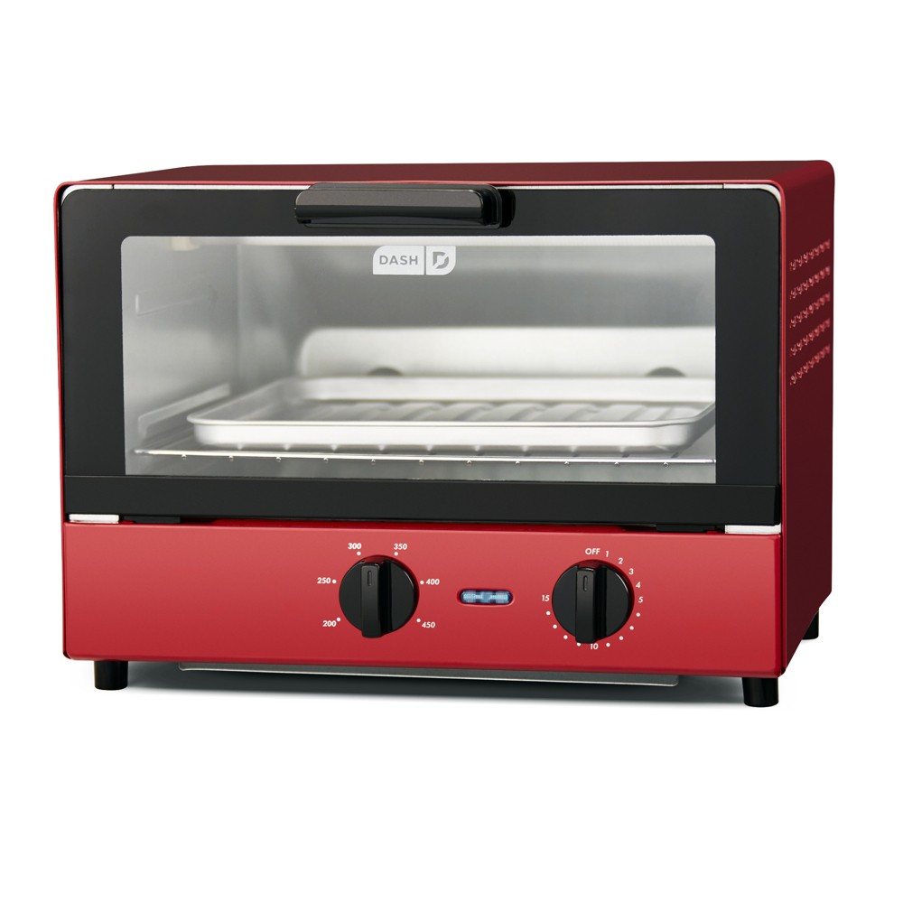 Dash Compact Toaster Oven – Red DCTO100GBRD04 54139959