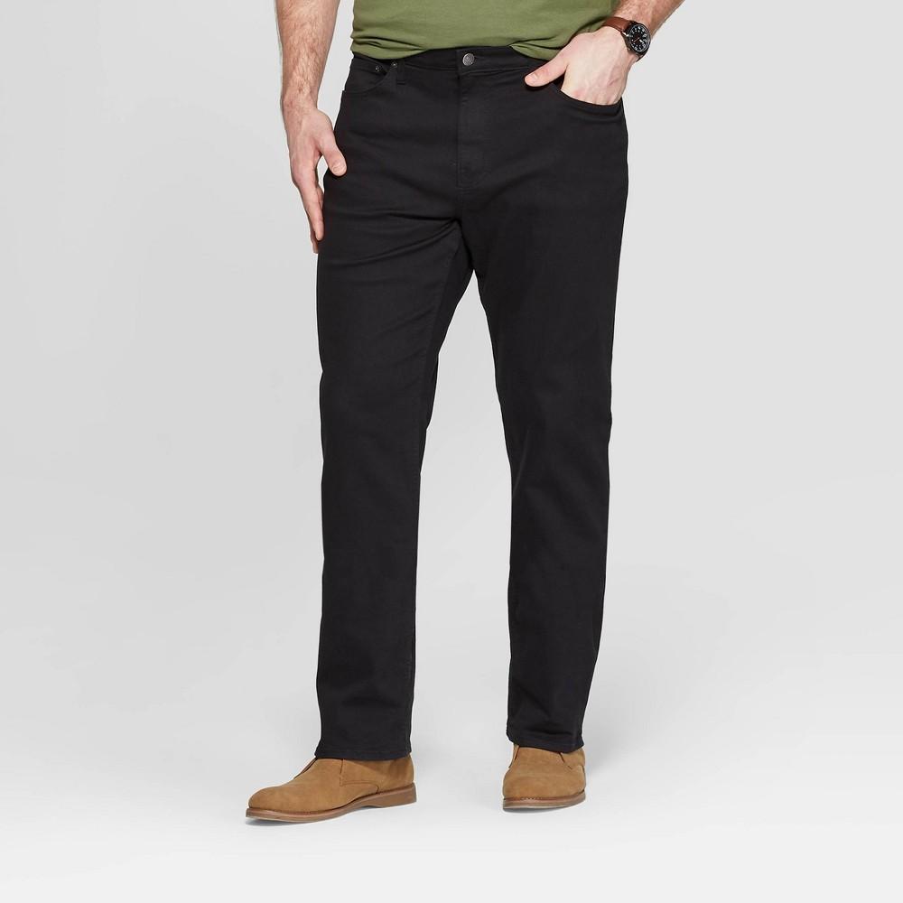 Men's Big & Tall 33.5 Slim Straight Fit Jeans - Goodfellow & Co Black 48x34