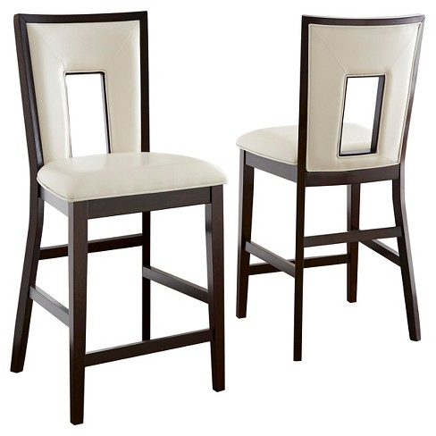 Marvelous Broward Counter Height Dining Chairs Wood White Brown Set Of 2 Steve Silver Company Gmtry Best Dining Table And Chair Ideas Images Gmtryco