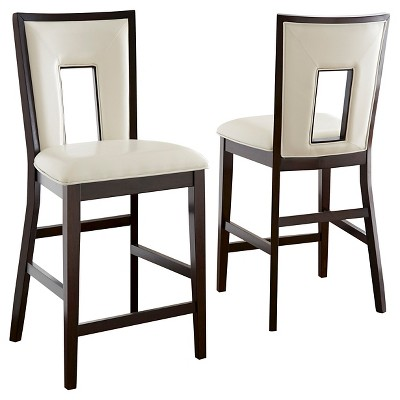Delicieux Broward Counter Height Dining Chairs Wood/White/Brown (Set Of 2)   Steve  Silver Company