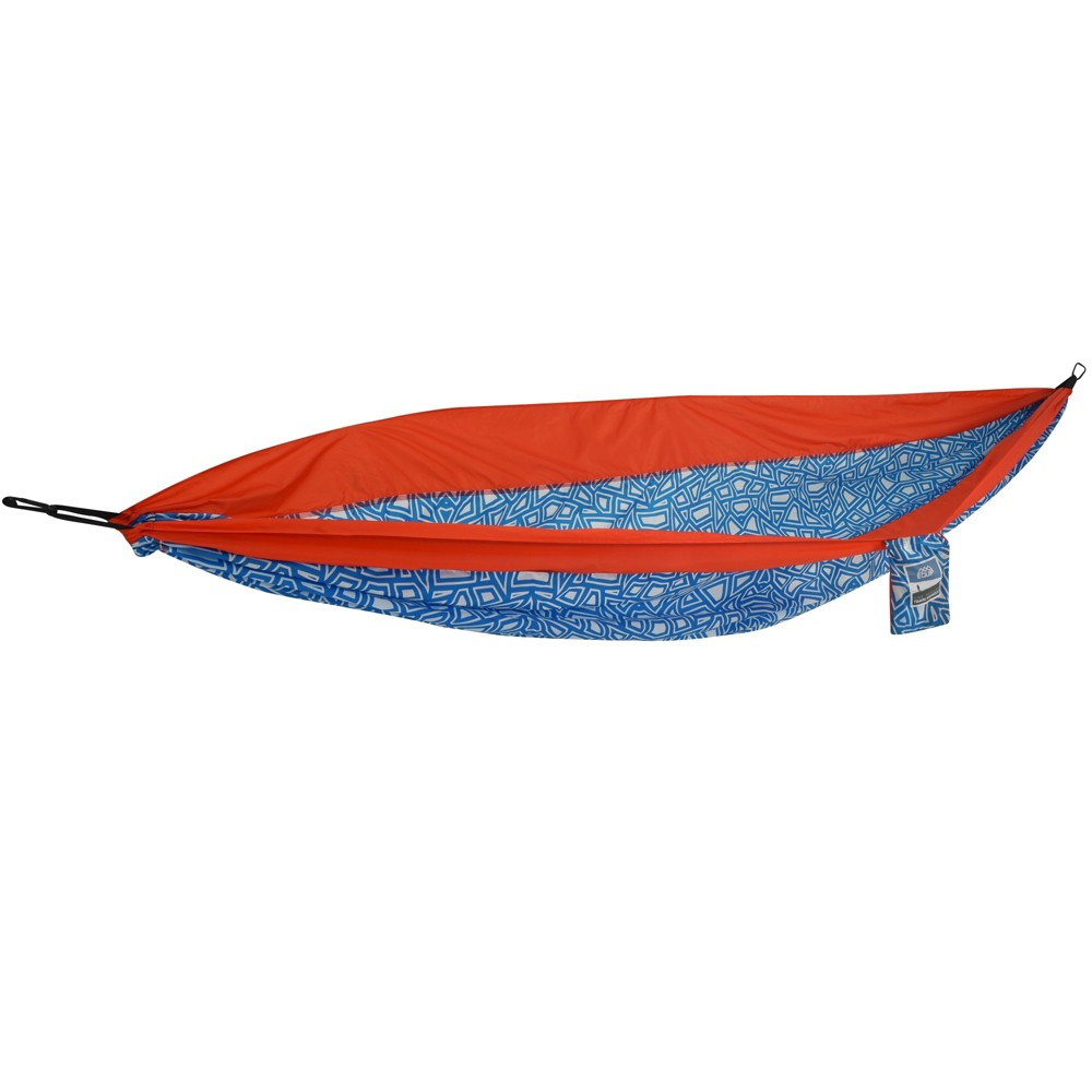 Image of Equip One Person Hammock in Cracked Geo, Blue/Red