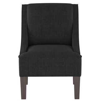 Hudson Swoop Arm Chair Black - Threshold™
