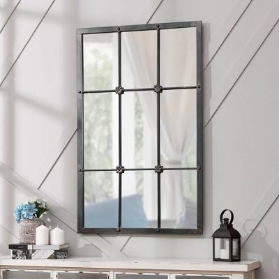 "24"" x 1"" x 38"" Homestead Manor Window Mirror Metallic Gray - FirsTime & Co."