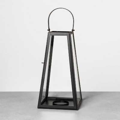 Metal Lantern Black   Hearth & Hand With Magnolia by Hearth & Hand With Magnolia