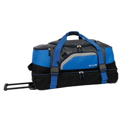 "Skyline 30"" Drop Bottom Duffel Bag - Blue"