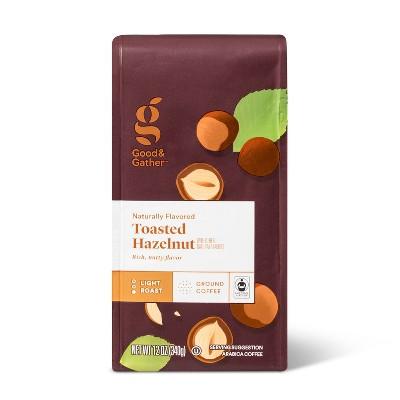 Naturally Flavored Toasted Hazelnut Light Roast Ground Coffee - 12oz - Good & Gather™