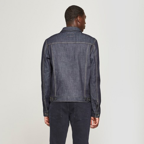 0ddf7f92b87 Men s Selvedge Denim Jacket - Goodfellow   Co™ Dark Rinse   Target