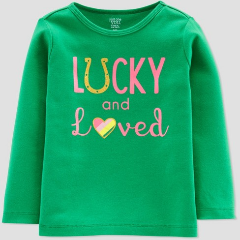 Toddler Girls' St Patty Long Sleeve T-Shirt - Just One You® made by carter's Green - image 1 of 1