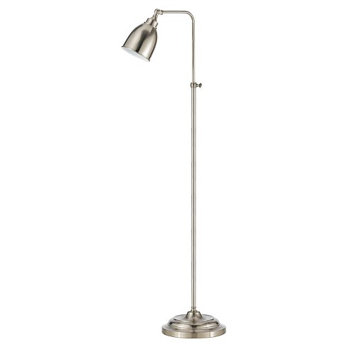 Cal Lighting Brushed Steel finish Metal Floor Lamp with Adjustable Height - image 1 of 1