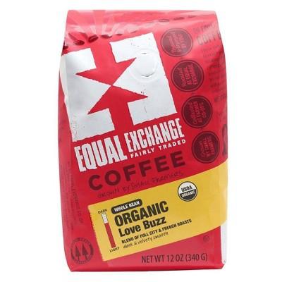 Equal Exchange Organic Love Buzz Dark Roast Whole Bean Coffee - 12oz