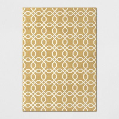 5'X7' Tufted And Looped Area Rug Trellis Yellow - Threshold™