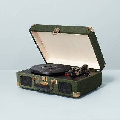 Suitcase Record Player Dark Green - Hearth & Hand™ with Magnolia