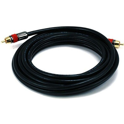 Monoprice Digital Coaxial Cable - 15 Feet - Black | High-quality Coaxial Audio/Video RCA CL2 Rated Cable - RG6/U 75ohm (for S/PDIF, Digital Coax,