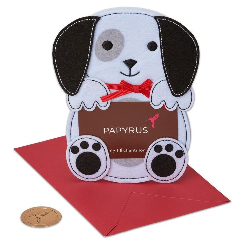 Papyrus Felt Puppy Gift Card Holder - image 1 of 3