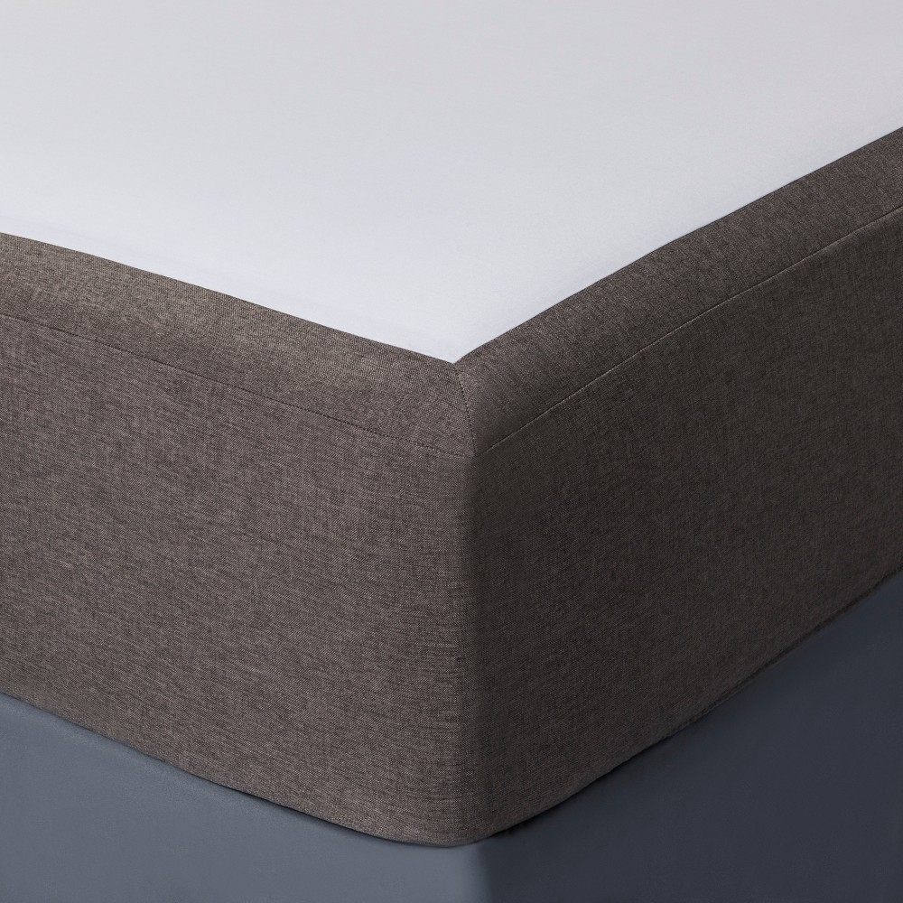 Gray Solid Box Spring Cover (King) - Project 62