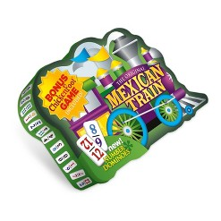 Puremco The Original Mexican Train Deluxe Double 12 Number Domino Set with Bonus Chickenfoot Game