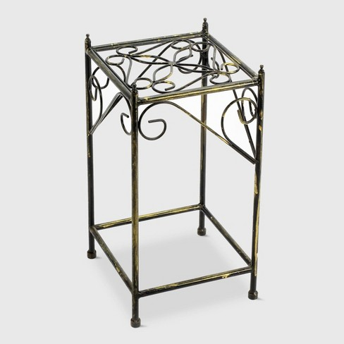 Square Iron Plant Stand Black/Gold - Ore International - image 1 of 4