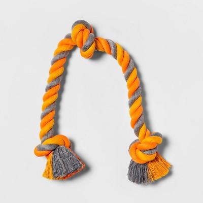 Rope Dog Toy - Orange/Gray - M - Boots & Barkley™