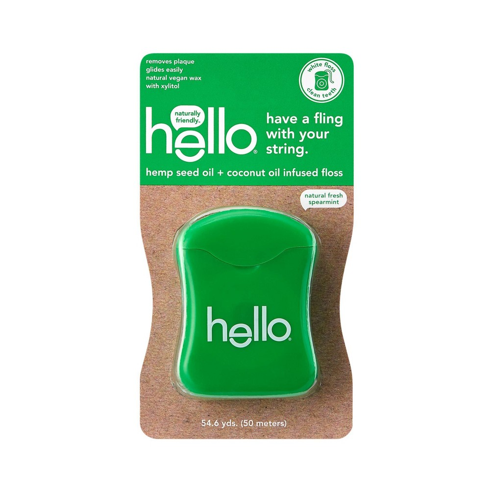 Image of hello Hemp Seed Oil + Coconut Oil Infused Floss - 50 m