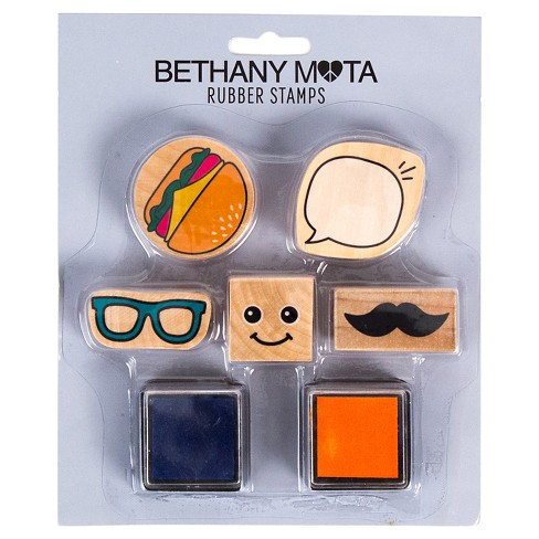 Bethany Mota Mustache Rubber Stamps with Ink - image 1 of 1