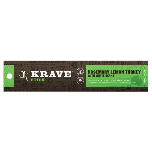 Krave® Rosemary Lemon Turkey with White Beans Meat Sticks - 1oz - image 1 of 1