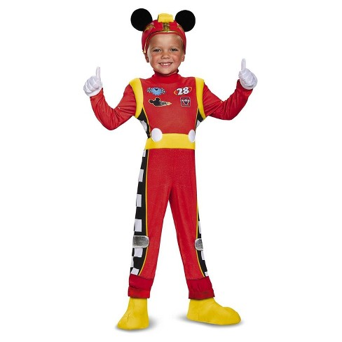 Kids' Mickey Mouse Roadster Deluxe Child Costume S(4-6) - image 1 of 1
