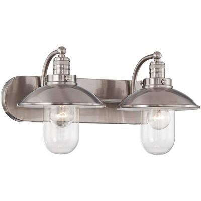 "Minka Lavery Downtown Edison 18 1/2"" Wide Brushed Nickel Bathroom Light"