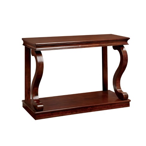 Sun & Pine Sallie Traditional Open Sofa Table Cherry - image 1 of 3
