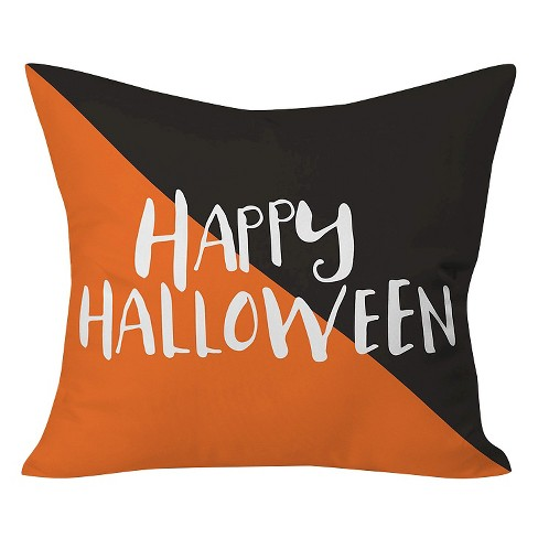 "Black Zoe Wodarz Halloween Hipster Throw Pillow (20""x20"") - Deny Designs - image 1 of 3"