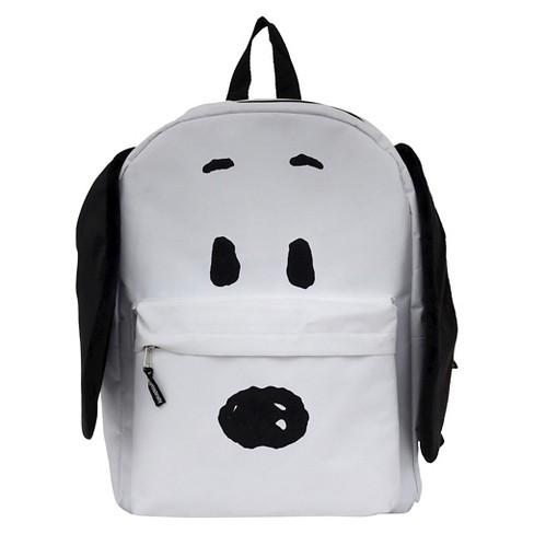 "Peanuts 16"" Snoopy with Plush Ears Kids' Backpack - White - image 1 of 1"