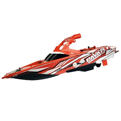 Pavati Remote Control RC Wakeboard Boat - 1:18 Scale - Red