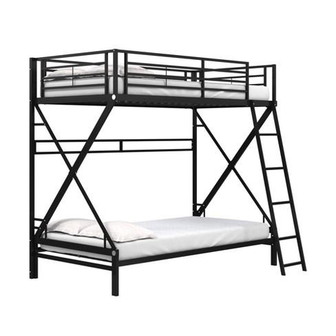 Twin Over Twin Novah Metal Bunk Bed Black - Room & Joy - image 1 of 4