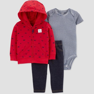 Baby Boys' South Transportation Top & Bottom Set - Just One You® made by carter's Red Newborn