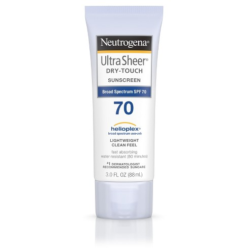 Neutrogena® Ultra Sheer Dry- Broad Spectrum Touch Sunscreen  - SPF 70 - 3oz - image 1 of 8