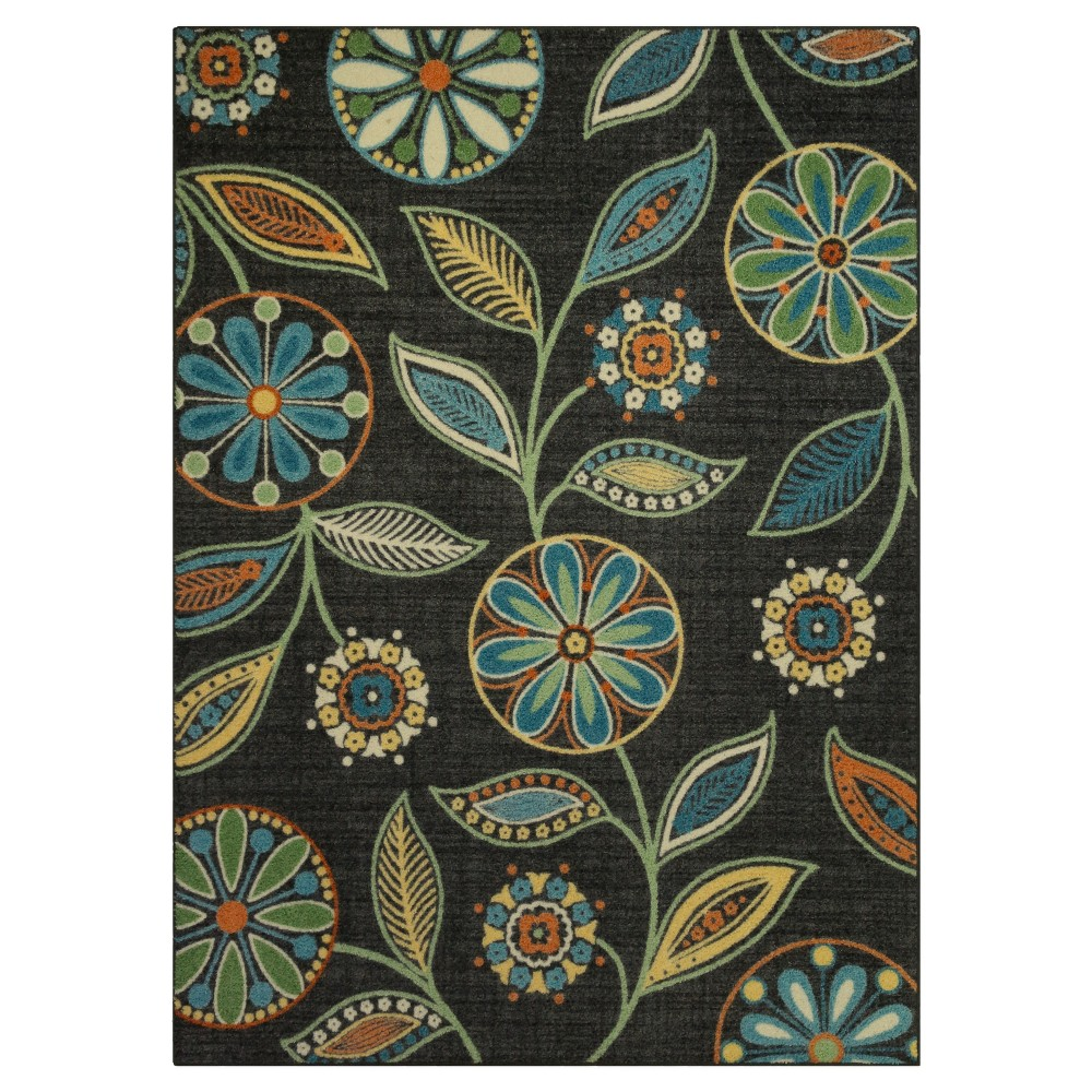 Image of 5'X7' Floral Tufted Area Rug - Maples