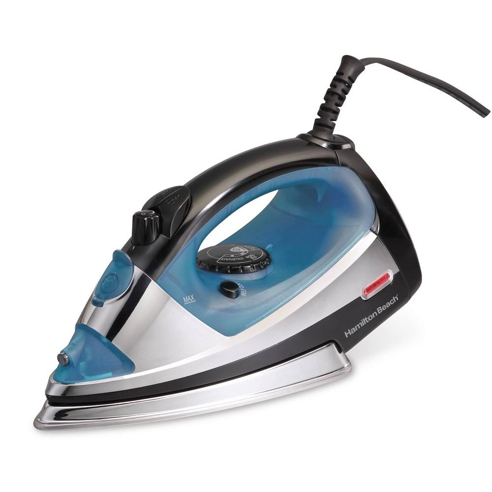 Image of Hamilton Beach Garment Iron Chrome 14710, Blue