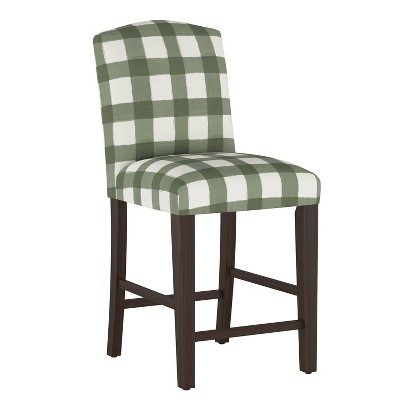 Camel Back Counter Height Barstool Buffalo Square Sage - Skyline Furniture