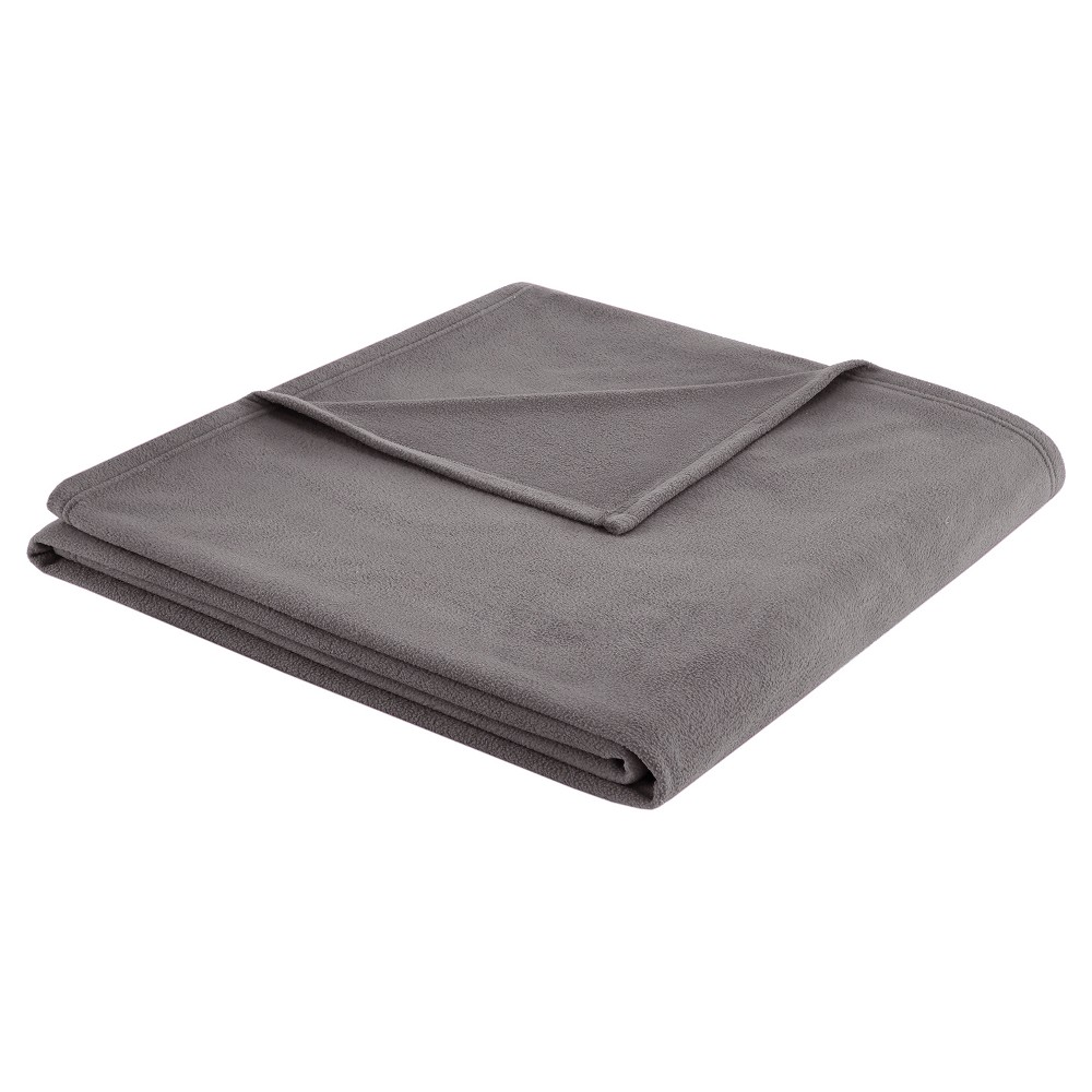 Image of 3M Scotchgard Micro Fleece Blanket (King) Gray