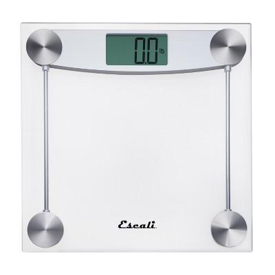 Clear Glass Digital Bathroom Scale Clear - Escali
