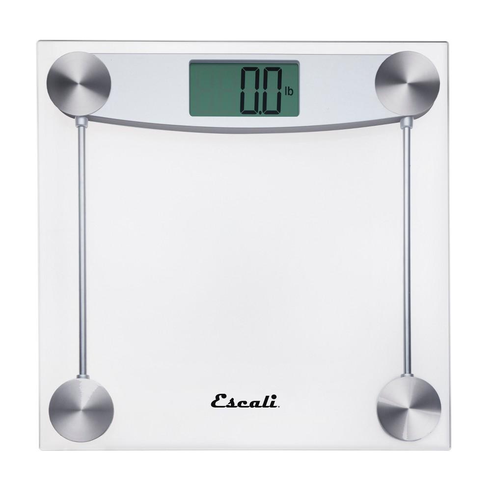Image of Clear Glass Digital Bathroom Scale Clear - Escali
