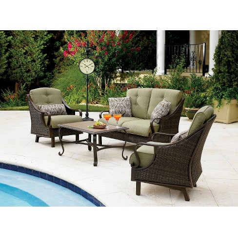 - Ventura 4-Piece Wicker Patio Conversation Furniture Set : Target