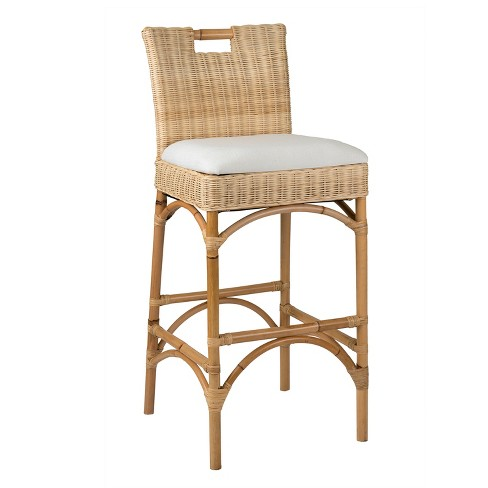 White Modern Desk Chair, 24 Barton Rattan Counter Height Barstool Beige East At Main Target