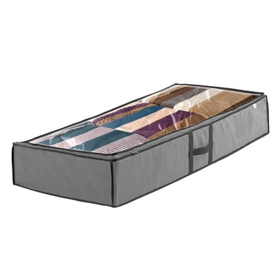 OSTO 2-Pack Underbed Accessory Storage Bag; Seasonal Storage Organizer for Bedding, Blanket, Comforters, and Seasonal Clothes; 42 Inch