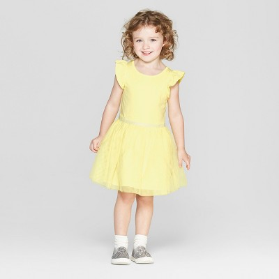 view Toddler Girls' Tutu Dress - Cat & Jack Yellow on target.com. Opens in a new tab.