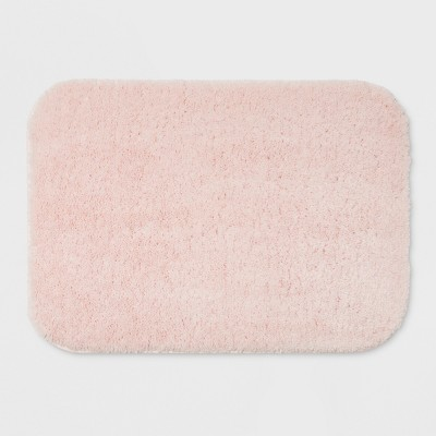 "17""x24"" Solid Bath Rug Light Pink - Room Essentials™"
