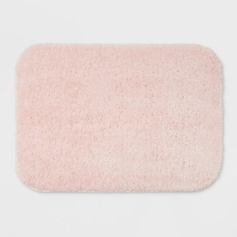24 X17 Solid Bath Rug Light Pink
