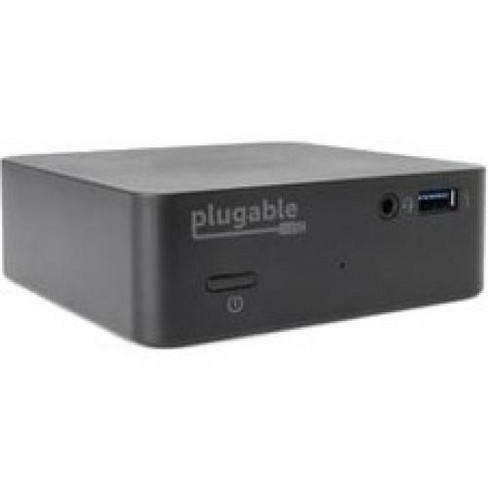 Plugable USB-C Mini Docking Station with 85W Power Delivery - for Notebook/Tablet PC - 85 W - USB 3.1 Type C - 5 x USB Ports - 4 x USB 3.0 - image 1 of 2